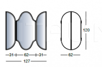 Настенное зеркало Y345 Mirage Longhi