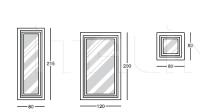 Напольное зеркало Y300 Opera Longhi