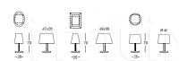 Настольная лампа Z238 Akilele Longhi