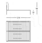 Кровать 1707 Nyx Zanotta