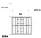 Кровать 1870 Alfa Zanotta
