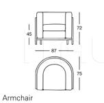 Кресло 1030 Onda Zanotta