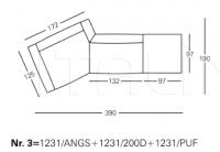Модульный диван 1231 Party Zanotta