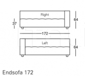 Модульный диван 1243 Kilt 84 Zanotta