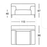 Кресло 1323 Greg Zanotta