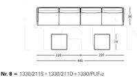 Модульный диван 1330 William Zanotta