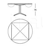 Стол обеденный 2552 Radicequadra Zanotta