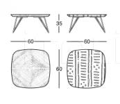 Журнальный столик 668 INK 668/60 Zanotta