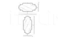 Настенное зеркало Charade IPE Cavalli (Visionnaire)