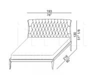 Кровать Lollo leather Galimberti Nino