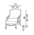 Кресло Marriot Galimberti Nino