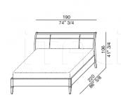 Кровать Borsalino Galimberti Nino