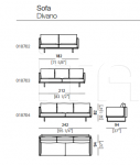 Модульный диван Rail Arketipo