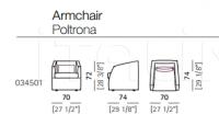 Кресло Poggio Arketipo