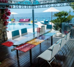Итальянские уличные столы - Стол обеденный Square Outdoor Tavolo фабрика IL Loft