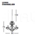Люстра CHANDELIER LS900 Ego Zeroventiquattro