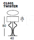 Настольная лампа TWISTER CL601 Ego Zeroventiquattro