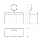 Туалетный столик Glam Armani Casa