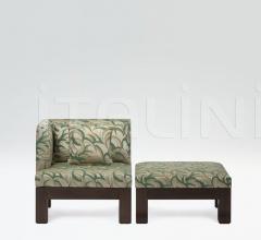 Кресло+пуф Barbican фабрика Armani Casa