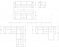 Модульный диван Engadin Armani Casa
