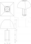 Настольная лампа Bloom Armani Casa