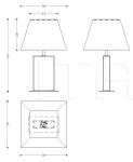 Настольная лампа Dory Armani Casa