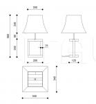 Настольная лампа Eveline 1 Armani Casa