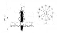 Люстра Sinuosa SN01 Patrizia Garganti (Baga)
