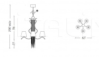 Подвесной светильник Sinuosa SN04 Patrizia Garganti (Baga)