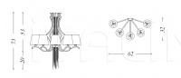 Подвесной светильник Sinuosa SN06 Patrizia Garganti (Baga)