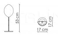 Настольный светильник Holly H20K5 Patrizia Garganti (Baga)