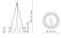 Подвесной светильник Holly H18C8 Patrizia Garganti (Baga)