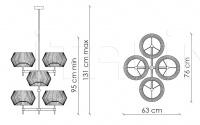 Подвесной светильник Novecento N04O1 Patrizia Garganti (Baga)