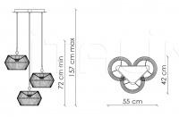 Подвесной светильник Novecento N12O3 Patrizia Garganti (Baga)