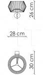 Настенный светильник Novecento N07O1 Patrizia Garganti (Baga)