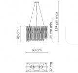 Подвесной светильник Frozen F03G1 Patrizia Garganti (Baga)