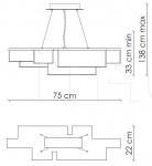 Подвесной светильник Gisele G02N1 Patrizia Garganti (Baga)