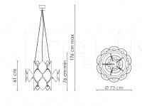 Подвесной светильник Holly H04C3 Patrizia Garganti (Baga)