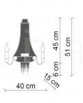 Подвесной светильник Ontherocks PG025 Patrizia Garganti (Baga)