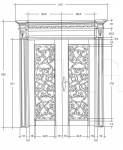 Дверь DR202LQ/GV Bakokko