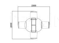 Раздвижной стол E346 Selva