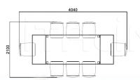 Раздвижной стол E3087 Selva
