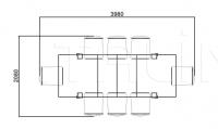 Раздвижной стол Rubens 3882 Selva