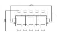 Раздвижной стол Vendome 3061 Selva