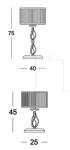 Настольный светильник Alicante white LG1/LP1 Euroluce Lampadari