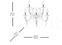 Настенный светильник Midha alicante shade A5 Euroluce Lampadari