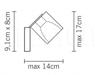 Настенный светильник D28 Cubetto G89/G90 Fabbian