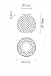 Потолочный светильник D82 Diamond Swirl Fabbian