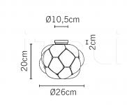 Потолочный светильник F21 Cloudy E03/E05 Fabbian