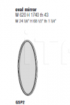 Настенное зеркало 45°/Specchiera Molteni & C
